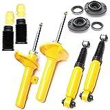 4x Sport de amortiguadores presión de gas Sport–Amortiguador Delantero Trasera + dom Protector de polvo de almacenamiento–Peugeot 206