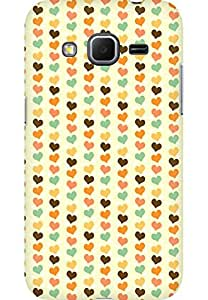 AMEZ designer printed 3d premium high quality back case cover for Samsung Galaxy Core Prime (love heart scroll)