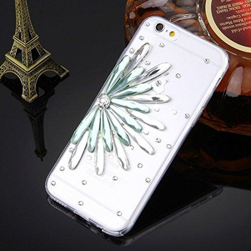 GHC Cases & Covers, Für iPhone 6 u. 6s Diamant verkrustete Gläser Katze-Perlen-Bell-Muster weiche TPU schützende Fall-rückseitige Abdeckung ( SKU : IP6G5600N ) IP6G5600M