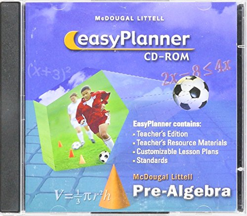 McDougal Littell Middle School Math: EasyPlanner CD-ROM (ancillaries included) Pre-Algebra