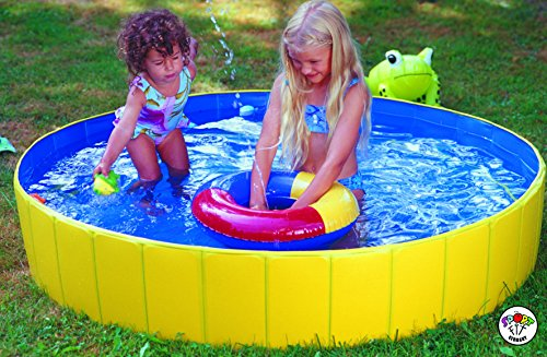 Falt-pool (Falt Planschbecken Kinderpool Babypool Faltbar Wasserspaß Wasserspiel Abdeckplane (Falt-Planschbecken Set))