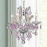 Maria Theresa Modern Klar Kristall Anhänger Kronleuchter Beleuchtung LED Deckenleuchte Leuchte für Esszimmer Badezimmer Schlafzimmer Wohnzimmer 4 E14 Glühbirnen Erforderlich H45cm X D45cm