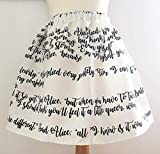 Alice In Wonderland text Skirt, Rooby Lane