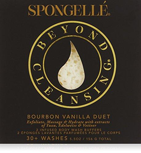 Spongellé Duo Infused Body Wash Buffers, Bourbon Vanilla 291 g