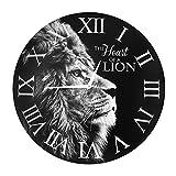 """Wanduhr Löwe – """"Das Herz eines Löwen"""""""