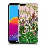 Head Case Designs Wagt Zu Wachsen Gestickter Druck Zitate Ruckseite Hülle für Huawei Honor 7C / Enjoy 8
