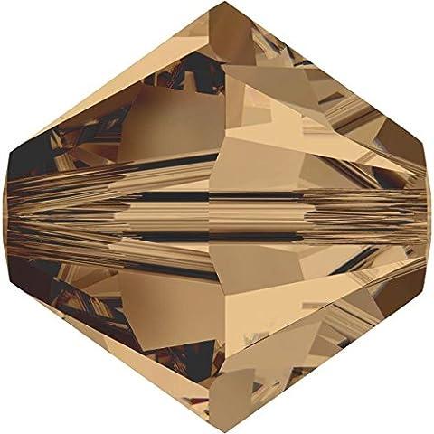 SWAROVSKI Crystal Xilion Bicones/Beads *5328 *6mm *LIGHT SMOKED TOPAZ *Pack of 20 *Wholesale *Genuine Supplied by SWAROVSKI RETAILER