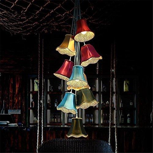 Innenbeleuchtung Kronleuchter Lampen Substanz moderne, kreative, zeitgenössische ländlichen einfarbige Bell Modellierung led Pendelleuchte 9 ist offensichtlich Schlafzimmer Deckenleuchte Lounge der Beleuchtung zu childrenthe (Zeitgenössische Bell)