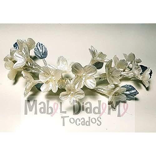figuras kawaii porcelana fria Tocado porcelana fría para bodas novia accesorio pelo festival eventos bodas
