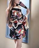 Lingerie-Giapponese-Donna-Chimono-Cheongsam-Vestiti-Costume-Cosplay-Outfit-Senza-Spalline-V-Scollo-Moda-Unique-Stampato-Floreale-Bowknot-Kimono-Erotici