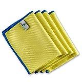 ELEXACLEAN Fenstertuch streifenfrei, Premium Mikrofaser Scheibentuch (4 Stück, 40x30 cm), Glas Putztücher Autotuch für Innen & Außen