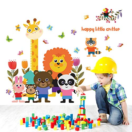 Looyy Happy Little Critter Kinder Wandaufkleber Für Kinderzimmer Kindergarten Baby Schlafzimmer Wand Dekor Abziehbilder Tier Wohnkultur