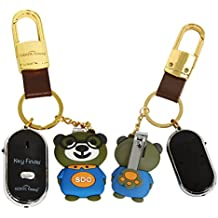 Sidiou Group Torcia LED anti-Lost Key Finder Locator Trova Key Chain kit cercatore portachiavi Sound Control chiave del fischio