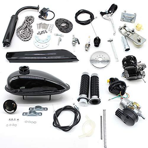 Chofesleu Fahrrad Mittelmotor 80cc 2-Takt Fahrradmotor Fahrradbenzinmotor-Kit für das Fahrrad