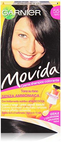 Garnier Garnier Movida Crema Shampoo Colorante, 55 Nero