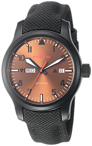 Fortis Men's Analog Automatic-self-Wind Watch with Leather Calfskin Strap 655.18.98 LP