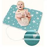 3 Stück Säugling Wasserdicht Urin Matte Abdeckung - Atmungsaktiv Pad Protector wechseln fürs Kleinkind Jungen Mädchen (Fantasie Sterne, M - 50 x 70 cm (3 Stück))
