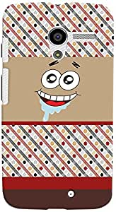 PrintVisa Cartoon Patter Smiley Case Cover for Moto X