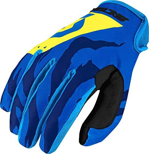 guanti mtb scott Scott 350Race MX Motocross/DH Bicicletta Guanti Blu/Giallo 2017