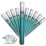 Ezee Go Cigarette Électronique au parfum Menthol | Sans Nicotine ni Tabac | E-Cigarette Jetable | 1 ml d'e-liquide avec jusqu'à 400 bouffées | Paquet de 10