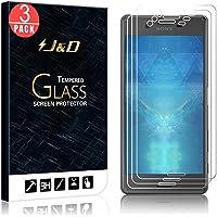 Xperia X Protector de Pantalla (3 Paquetes), J&D [Cristal Templado] HD Claro Vidrio Balístico Protector de Pantalla para Sony Xperia X- Protector contra Caída y Arañazos