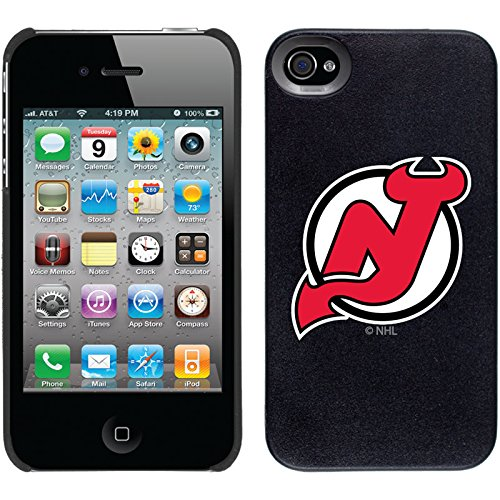 New Jersey Devils - Primary Logo design on Black iPhone 4s / 4 Thinshield Snap-On Case