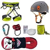 Camp Kletter-Set 6.3 - Gurt Gr.L + Kletterseil 50m + Kletterhelm 54-62cm + Mammut Karabiner + Tube + Chalkball + Chalkbag
