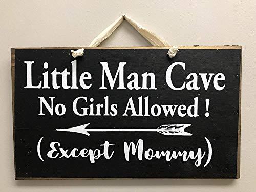 istiWood Schild für Jungen und Mädchen, 18 x 28 cm, Höhle für Kinder, Zitat, Wald, Tribal Thema Kinderzimmer Dekoration Zauberstab CB 655192 - Mädchen-kinderzimmer-thema