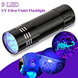 Aluminium UV Ultra Violet 9 LED Blacklight AAA Flashlight Torch Light Lamp New