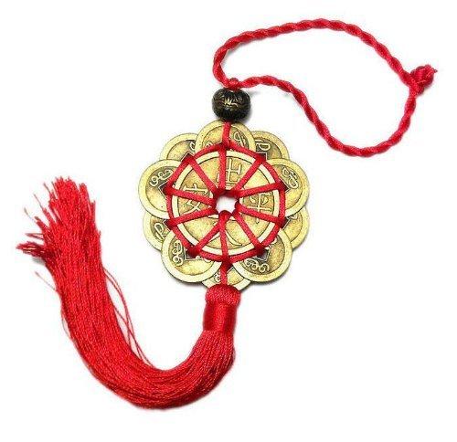 sungpunet Feng Shui amuleto Ancient I CHING monedas prosperidad protección buena fortuna de adornos de Navidad