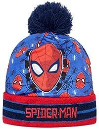408b076f8d00 Bonnet à revers enfant garçon Spider-man Bleu rouge de 3 ...