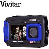 Unterwasser Digital Kamera 18Megapixel Dual Display Selfie Wasserdicht/Stoßfest/Staubdicht KOMPAKT Kamera zu einer Tiefe von 3Meter–Vivitar ViviCam V09018MP