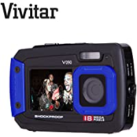 Vivitar Vivicam V090 Appareil photo sous-marin compact, 18mégapixels avec double écran, selfie, antichoc, protégé contre la poussière, utilisable jusqu'à 3mètres de profondeur,