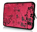 Luxburg® Design Laptoptasche Notebooktasche Tablet PC eBook Reader Tasche bis 8,1 Zoll, Motiv: Sakura pink