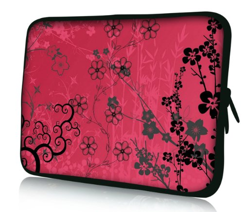 Luxburg® Design Laptoptasche Notebooktasche Sleeve für 17,3 Zoll (auch in 10,2 Zoll | 12,1 Zoll | 13,3 Zoll | 14,2 Zoll | 15,6 Zoll | 17,3 Zoll) , Motiv: Sakura pink
