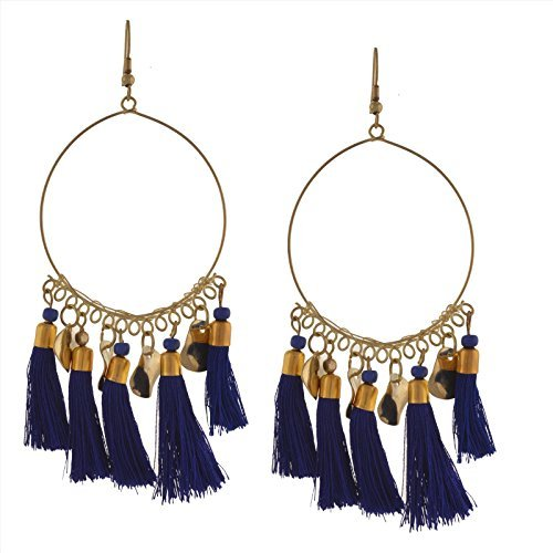 Zephyrr Jewellery Lightweight Hook Dangler Hanging Earrings with Tassels Beads for Women