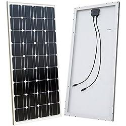 ECO-WORTHY 100w 12v module solaire panneau solaire photovoltaïque - monocristallin - cellule solaire idéal pour recharger les piles 12 volt