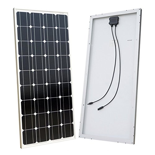 ECO-WORTHY 100W Solar Panel 12V Monocrystalline Photovoltaic PV Module for Charging 12 Volt Battery in Motorhome Caravan Camper Boat or Yacht