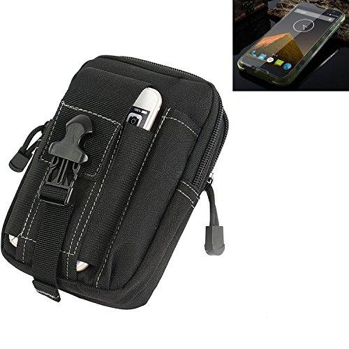 K-S-Trade Gürtel Tasche für Blackview BV 5000 Gürteltasche Schutzhülle Handy Hülle Smartphone Outdoor Handyhülle schwarz Zusatzfächer