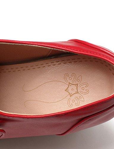 ZQ hug Scarpe Donna - Scarpe col tacco - Tempo libero / Casual - Tacchi - Plateau - Finta pelle - Nero / Rosso / Bianco , red-us10.5 / eu42 / uk8.5 / cn43 , red-us10.5 / eu42 / uk8.5 / cn43 red-us6.5-7 / eu37 / uk4.5-5 / cn37