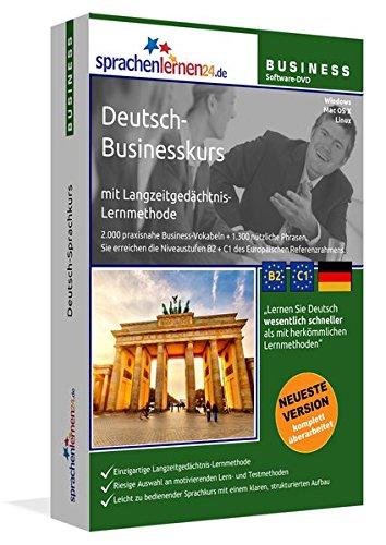 Preisvergleich Produktbild Sprachenlernen24.de Deutsch-Businesskurs Software: DVD-ROM für Windows / Linux / Mac OS X. Integrierte Sprachausgabe mit über 3300 Audio-Vokabeln und Redewendungen