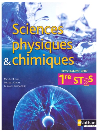 Sciences physiques et chimiques 1e ST 2S