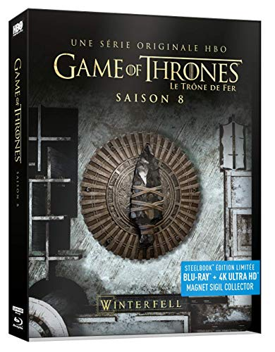 Game of Thrones - Saison 8 Steelbook Edition Limitée (Blu-ray + 4K ultra HD)