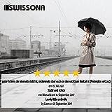 SWISSONA Premium Regenschirm, leicht, winddicht, rostfrei in schwarz | 2 Jahre Zufriedenheitsgarantie | Taschenschirm, Reise-Regenschirm, Outdoor-Regenschirm - 7