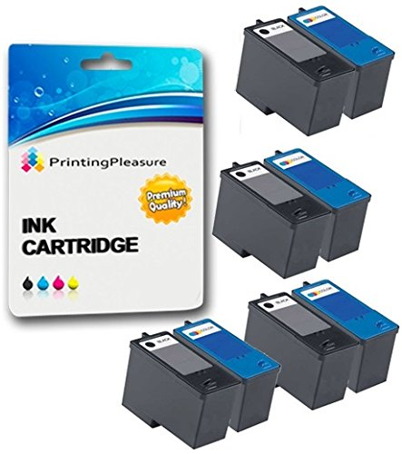 8 Tintenpatronen kompatibel zu Dell Serie 5 M4640 M4646 für Dell 922 924 942 944 946 962 964 - Schwarz/Color, hohe Kapazität -