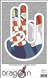 THE SHOCKER HAND - AUFKLEBER / AUTOAUFKLEBER - Decal Sticker 15cm außenklebend - weißer Umriss mit Fahne / Flagge - Croatia-Kroatien