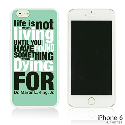OBiDi - Typography Pattern Hard Back Case / Housse pour Apple iPhone 6 / 6S (4.7 inch)Smartphone - Life Is Life Is