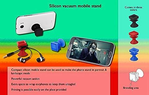Multifuctional Silikon Vakuum Mobile Ständer mit Kopfhörer Halterung (Verwendung für Home/Office/Auto) –-ideal für Handy GPS Navigation, Akku aufladen, Desktop-Ständer