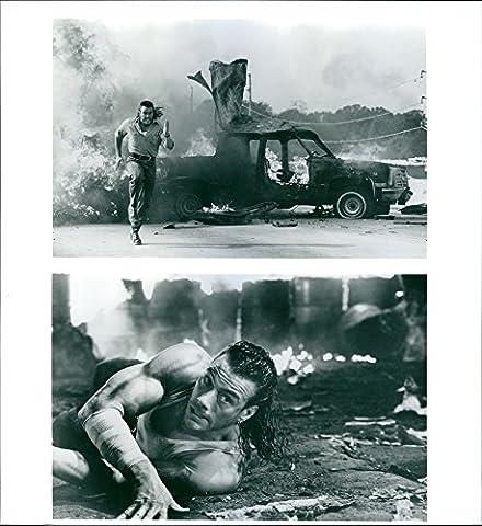 Vintage Photo de Jean-Claude Van Damme étoiles dans un 1993Film d'Action américain,