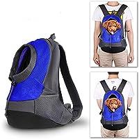 Mochila para gatos,bolsa de transporte para perro,Pet Carrier mochila para pequeños perro gato Puppy On-the-Go Travel Pet frente parte posterior bolsa transpirable suave malla Pup Pack (42 x 38 x 20 cm/16,5 x 15 x 7,9 pulgadas) (Azul)